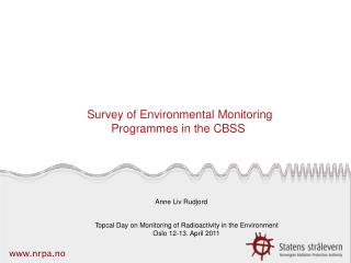 Survey of Environmental Monitoring Programmes in the CBSS