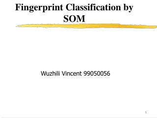 Fingerprint Classification by SOM
