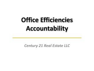 Office Efficiencies Accountability