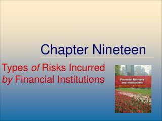Risks at Financial Institutions