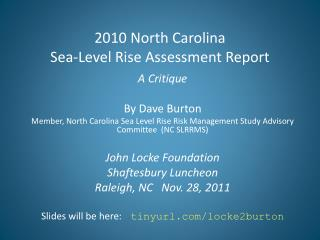 2010 North Carolina  Sea-Level Rise Assessment Report
