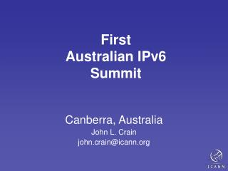 First Australian IPv6 Summit