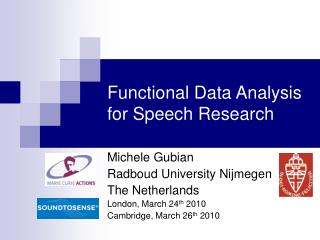 Functional Data Analysis for Speech Research