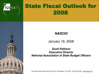 State Fiscal Outlook for 2008