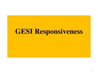 GESI Responsiveness