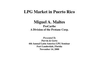 Puerto Rico Country Information