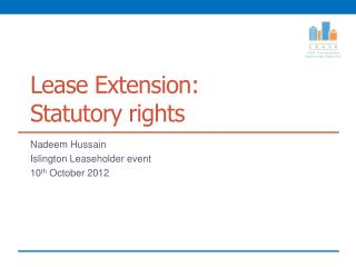Lease Extension:  Statutory rights