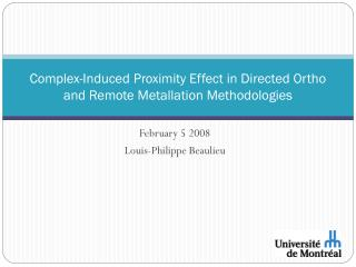 Complex-Induced Proximity Effect in Directed Ortho and Remote Metallation Methodologies