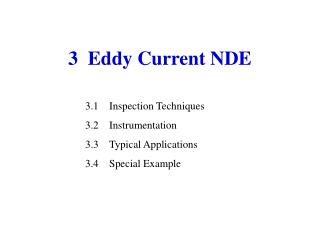 3  Eddy Current NDE