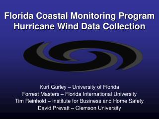 Florida Coastal Monitoring Program Hurricane Wind Data Collection