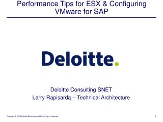 Performance Tips for ESX & Configuring VMware for SAP