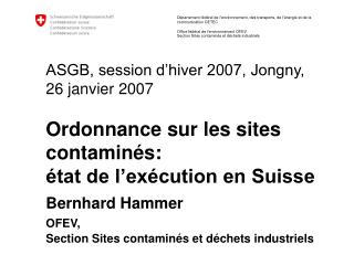 Section Sites contaminés et déchets industriels
