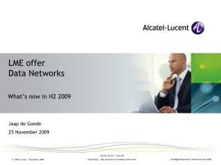 LME offer Data Networks