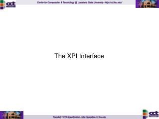 The XPI Interface