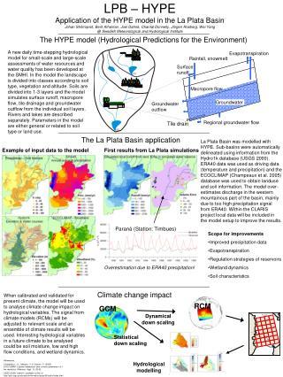 The La Plata Basin application