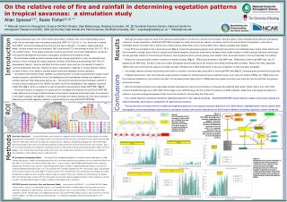 On the relative role of fire and rainfall in determining vegetation patterns