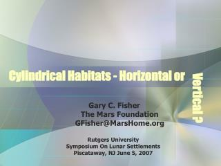 Cylindrical Habitats - Horizontal or