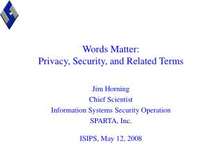 Words Matter: Privacy, Security, and Related Terms