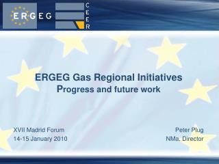 ERGEG Gas Regional Initiatives P rogress and future work