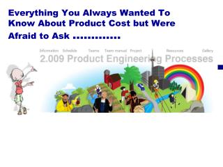Everything You Always Wanted To Know About Product Cost but Were Afraid to Ask  ………….
