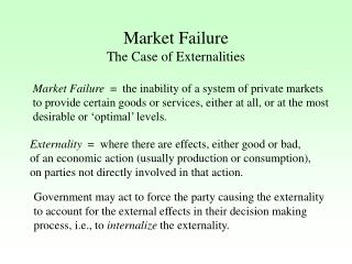 Market Failure The Case of Externalities