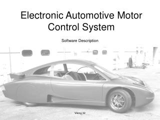 Electronic Automotive Motor Control System