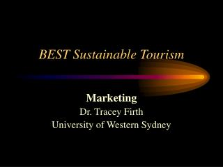 BEST Sustainable Tourism