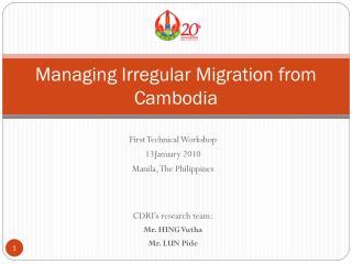 Managing Irregular Migration from Cambodia