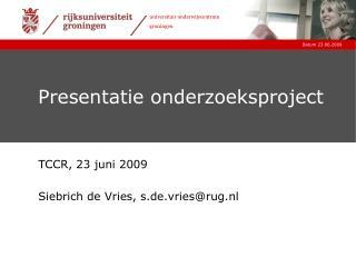 Presentatie onderzoeksproject