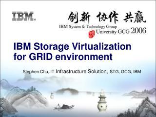 Stephen Chu, IT  Infrastructure Solution, STG, GCG, IBM