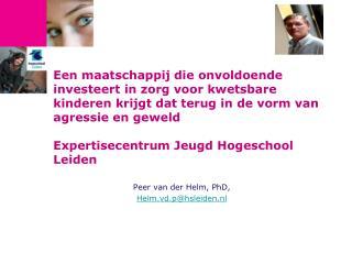 Peer van der Helm, PhD,  Helm.vd.p@hsleiden.nl