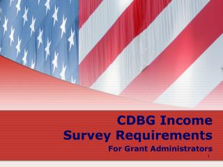 CDBG Income Survey Requirements For Grant Administrators