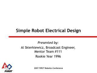 Simple Robot Electrical Design