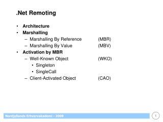 .Net Remoting