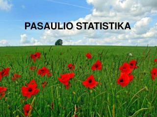 PASAULIO STATISTIKA