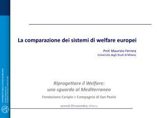 La comparazione dei sistemi di welfare europei