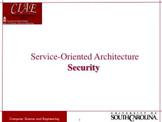 Service-Oriented Architecture Security