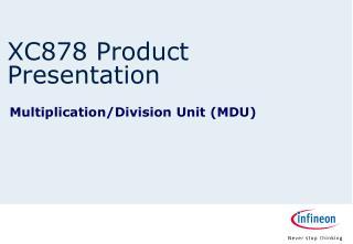 XC878 Product Presentation