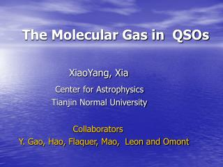 The Molecular Gas in  QSOs