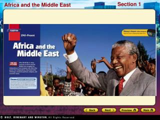 Preview Starting Points Map: Africa and the Middle East Main Idea / Reading Focus