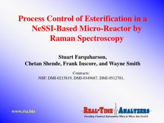 Process Control of Esterification in a NeSSI-Based Micro-Reactor by Raman Spectroscopy