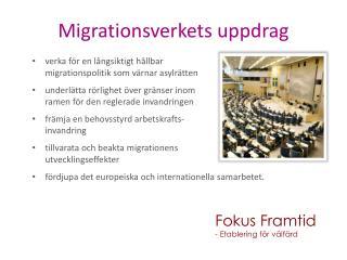 Migrationsverkets uppdrag