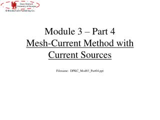 Module 3 – Part 4 Mesh-Current Method with Current Sources