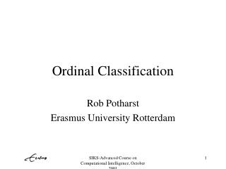 Ordinal Classification