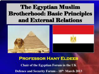 The Egyptian Muslim Brotherhood: Basic Principles and External Relations