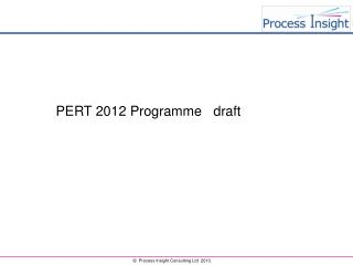 PERT 2012 Programme   draft