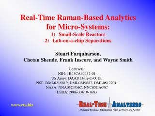 Real-Time Raman-Based Analytics  for Micro-Systems: Small-Scale Reactors Lab-on-a-chip Separations