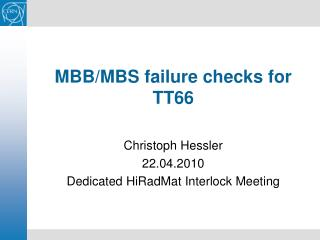 MBB/MBS failure checks for TT66