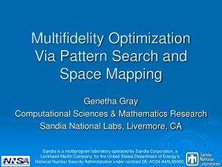 Multifidelity Optimization Via Pattern Search and Space Mapping