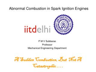 Abnormal Combustion in Spark Ignition Engines